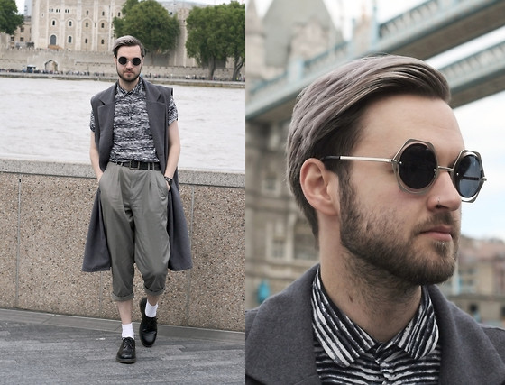 Geraint Donovan-Bowen - Jeepers Peepers Sunglasses, Asos Gilet, New Look Shirt, Rokit Vintage Trousers, American Apparel Socks, Dr. Martens Shoes - His Name Is Hex