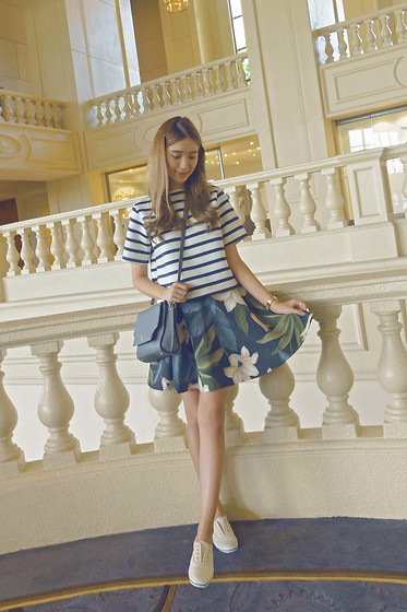 Tricia Gosingtian - Lola & Daisies Top, Lola & Daisies Skirt, Lapalette Bag, Kate Spade For Keds Sneakers - 072315