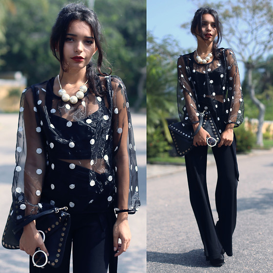 Alana Ruas - Romwe Shirt - . . . . . . . .Dots Everywhere . . . . . . . .