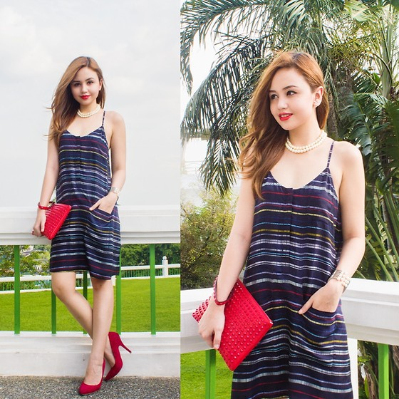 Nicole Aguinaldo - Armani Exchange Dress, Valentino Clutch, Forever 21 Heels - A Little Shift
