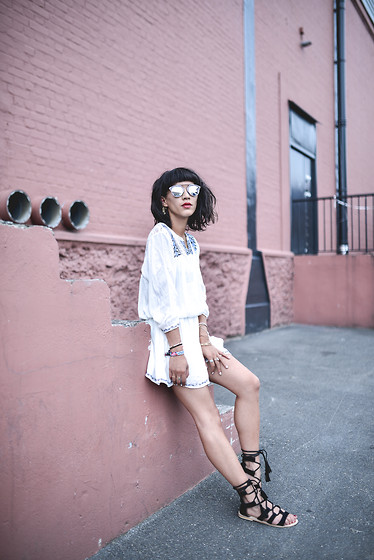 Leeloo P - Dress Pepejeans, Shoes Asos, Sunglasses Dior - Gladiator ♥