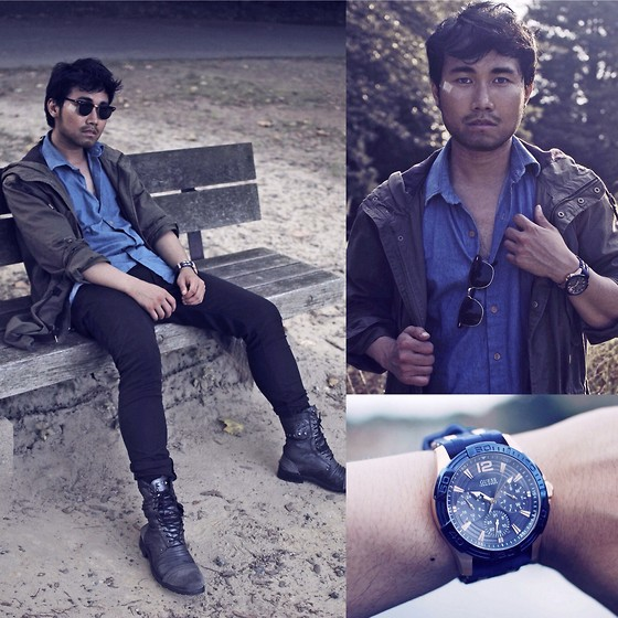 KIKO CAGAYAT - H&M Parka, Guess Blue And Rose Gold Watch - ESCAPO