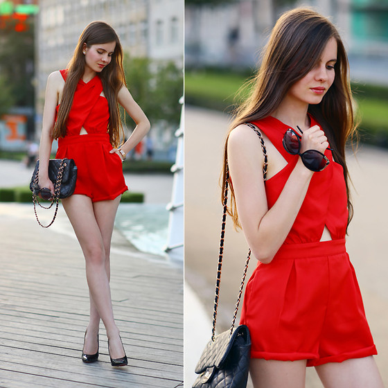 Ariadna M. - Red Jumpsuit - Red romper