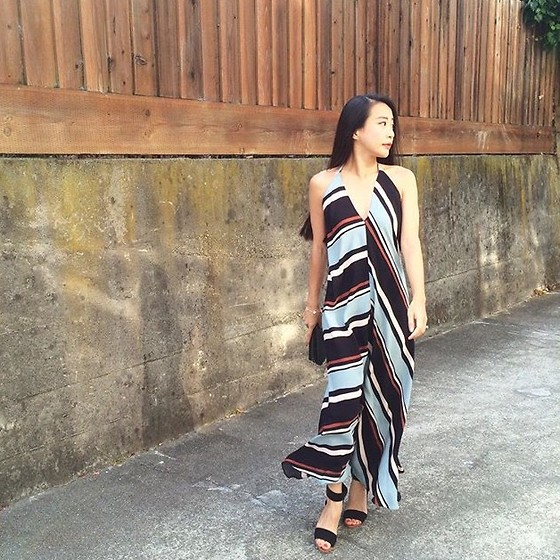 Emma Lee - Zara Maxi Dress, And Other Stories Sandals - Edgier wiht stripes