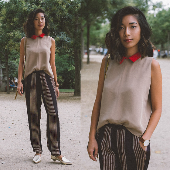 Stephanie Liu - Christine Alcalay Top, Giada Forte Pants, Nicholas Kirkwood Loafers - Parisienne