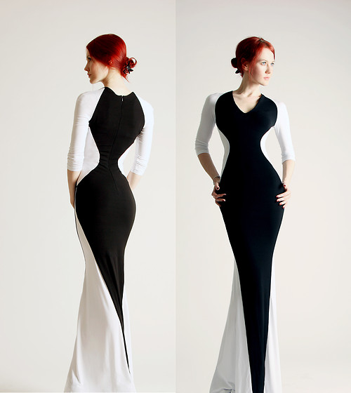 Dasha Nesterova - Dasha Nesterova Dress - Black and white