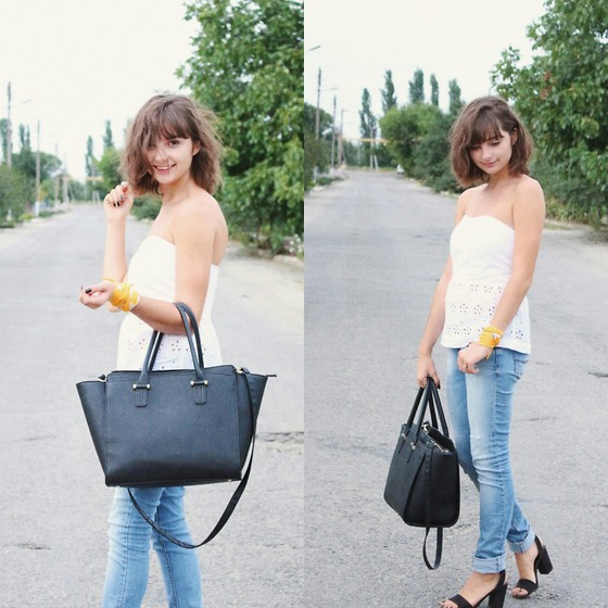 Nastasi - Calliope Top, Pull And Bear Jeans, H&M Bag - Summer love