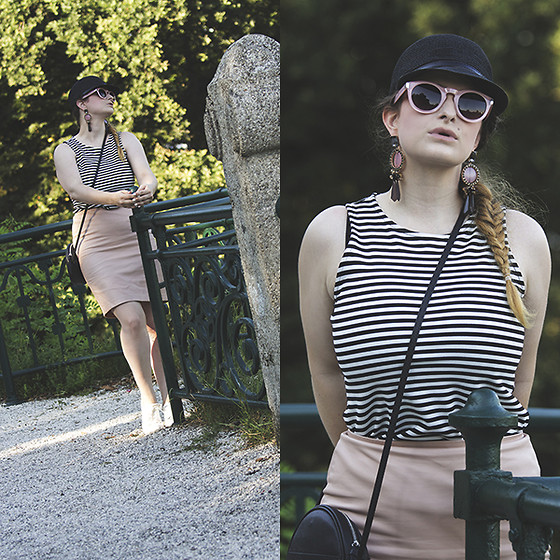 Jules - H&M Sneakers, Vintage Hat, Tally Weijl Sunglasses, H&M Earrings, Pimkie Top, Forever 21 Skirt, Promod Bag - Round, Round, Round