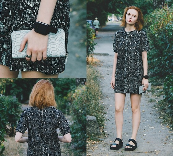 Kristina Magdalina - Dresslink Watch, Dresslink Dress - My favorite snake print.