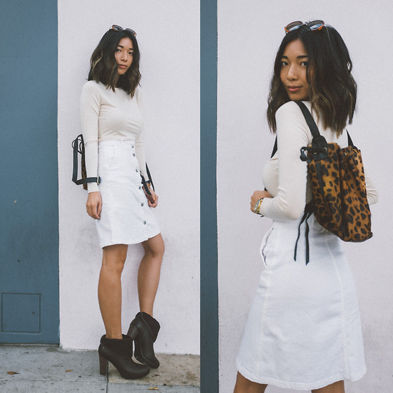 Stephanie Liu - H&M Skirt, Rachel Pally Top, Ugg Boots, Cleobella Bag - Date Day