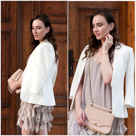 Anna Puzova - H&M Blazer, River Island Dress, New Look Bag - Pastels in Bergs Bazaar