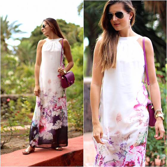 Marianela Yanes - Sheinside Dress, Zara Bag - Between Flowers