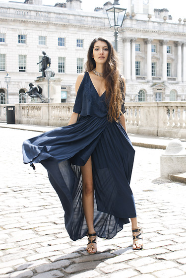 Anoushka P - Free People Navy Maxi - Glitter and Gladrags