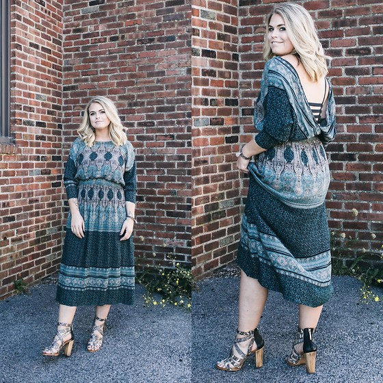 Britnie Harlow - Free People Maxi Dress, Dolce Vita Strappy Sandals - Wedding guest attire // #fpme