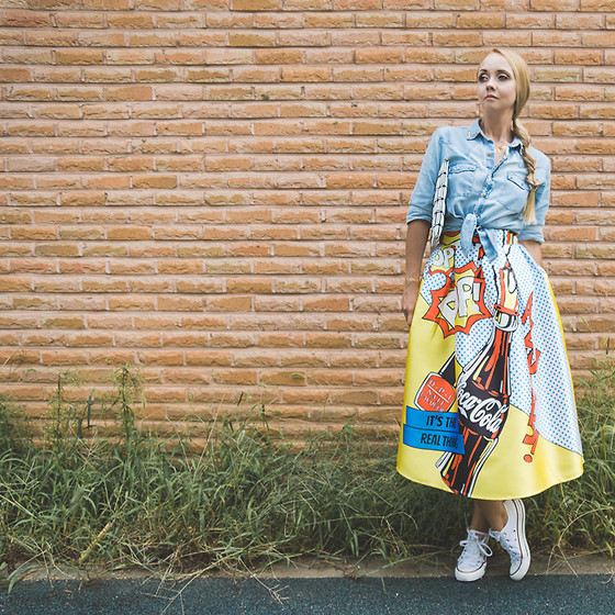 Olga Choi - Romwe Pop Art Skirt - Pop art