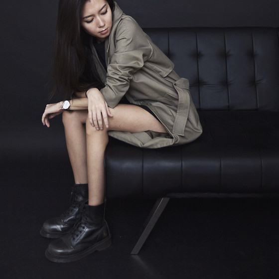 Aliya A - Somemoment Trench, Dr. Martens Boots - Here