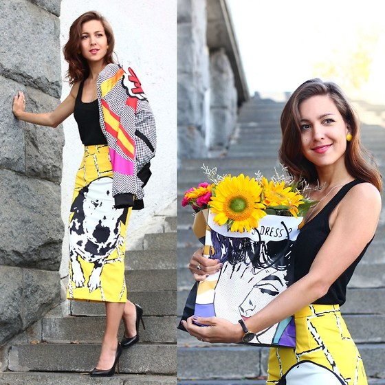 Beauty Mark Lady - Vika Smolyanitskaya Skirt - POP ART STYLE