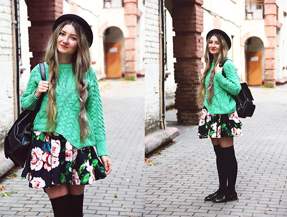 ♡Anita Kurkach♡ - Sheinside Sweater, Sheinside Hat, Wholesale7 Bagpack, Asos Shoes - BACK TO SCHOOL OUTFIT!