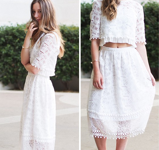 Gabrielle Lacasse - Fcuk Lace Top, Fcuk Lace Skirt - Summer Lace