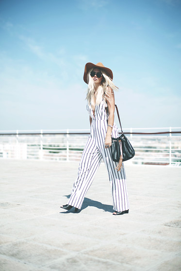 Inês M - Zara Hat, Missguided Jumpsuit - Listed Down