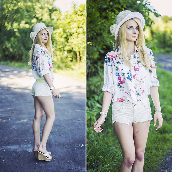 Charmeuse - Shein Flower Printed Shirt - The sweetest thing