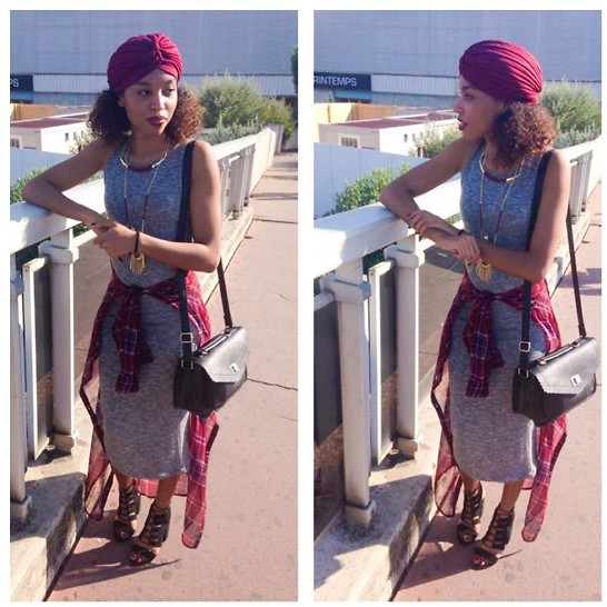 L'Albertina - Stradivarius Turban, Stradivarius Dress, Primark Shoes, Primark Bag, Stradivarius Necklace - 16 September