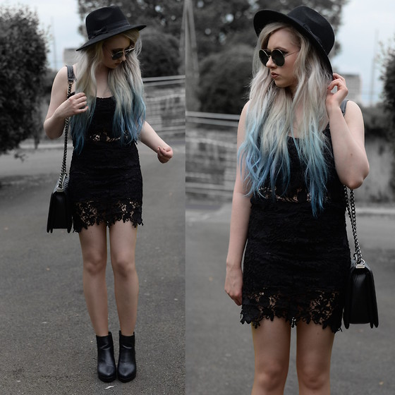 Sammi Jackson - Lovely Wholesale Lace Coords, Oasap Quilted Bag, Topshop Alexy Boots - LACE COORDS