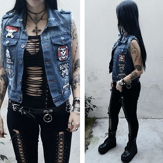 Rokaia MAB -  - Patch Denim Vest