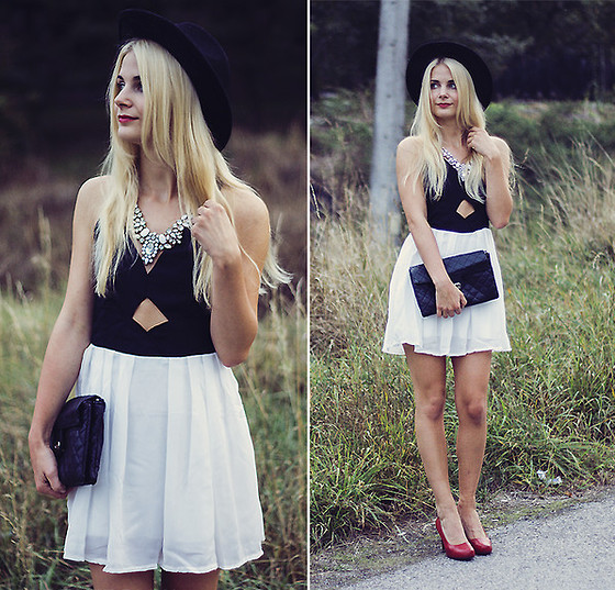 Charmeuse - Color Blocked Dress - But baby, tonight, we're beautiful now