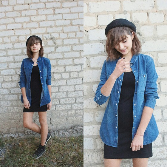 Nastasi - H&M Hat, Bershka Dress - Hat lady