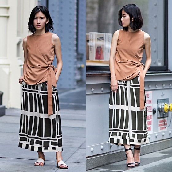 Claire Liu - Hyphen The Label Top, Asos Pants, Joe's Jeans Heels - NYFW Day 3