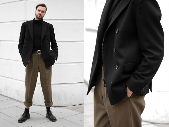 Geraint Donovan-Bowen - Joseph Blazer, H&M Roll Neck, Asos Trousers, H&M Socks, Dr. Martens Shoes - His Name Is #LFW Day 3
