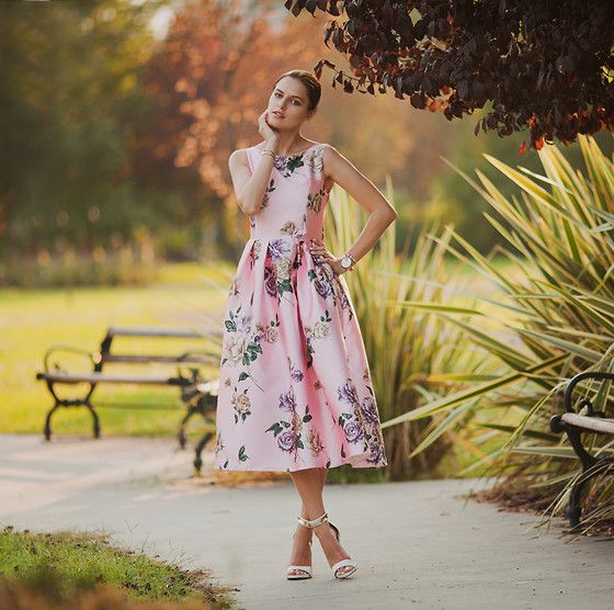 Viktoriya Sener - Chic Wish Pink Dress - PINK FLORAL DRESS