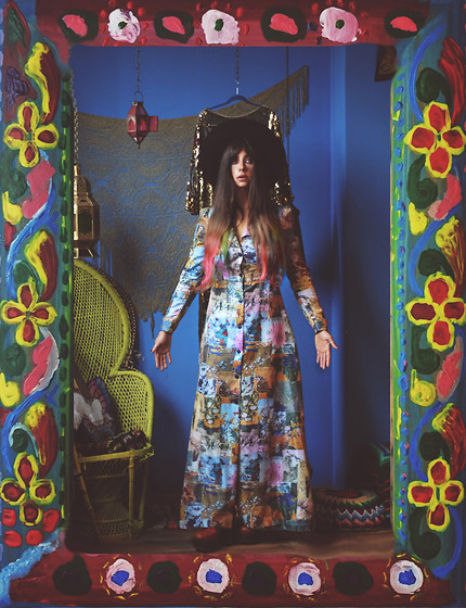 Muzzy Stardust - Authentic 1970s Bohemian Dress - 70's