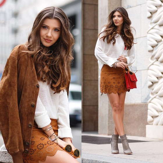 Larisa Costea - Romwe Sweater, Shein Skirt - Milan Fashion Week Day 6