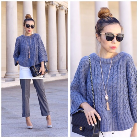 Sasa Zoe - On Sale Sweater, Necklace, 25% Off With Code Friends Sunglasses, Pants, Heels, Bag - SASA GREY