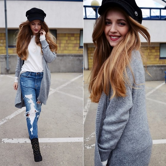 Sylwia Gocajna - Mango Top, H&M Sweater, Pull & Bear Jeans, Zara Shoes, H&M Hat - Until You Came Along