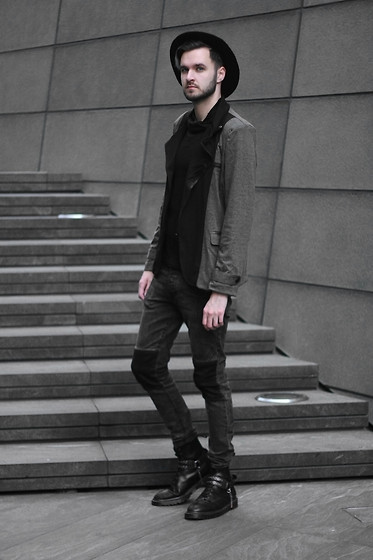 Geraint Donovan-Bowen - Topman Fedora, Cndirect Jacket, Cndirect Top, H&M Jeans, Dr. Martens Boots, Topshop Bootstraps - His Name Is Direct