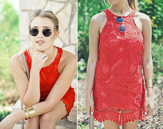 Payton Sartain - Lovers + Friends Dress - Red hot