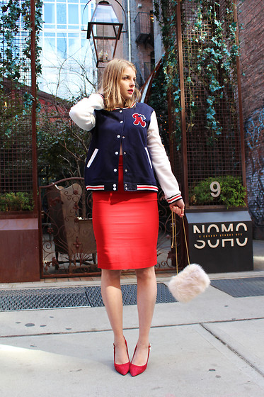 Julia - Amiclubwear Jacket, Zara Skirt, Zara Bag, Aldo Shoes - Last summer rays