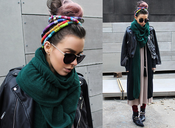 Katia Nikolajew - Eyebuydirect Sunglasses, Lime Crime ''Cashmere'' Lipstick, 2020ave Knit Vest, Mums Handmade Tassel Belts - Loading up on layers...