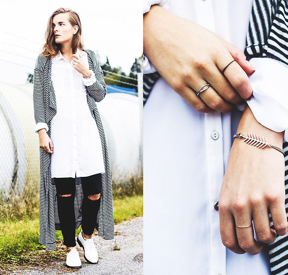 Ingrid Wenell - Asos Cardigan, H&M Shirt, Vintage Shoes, Edblad Bracelet - Not without my stripes