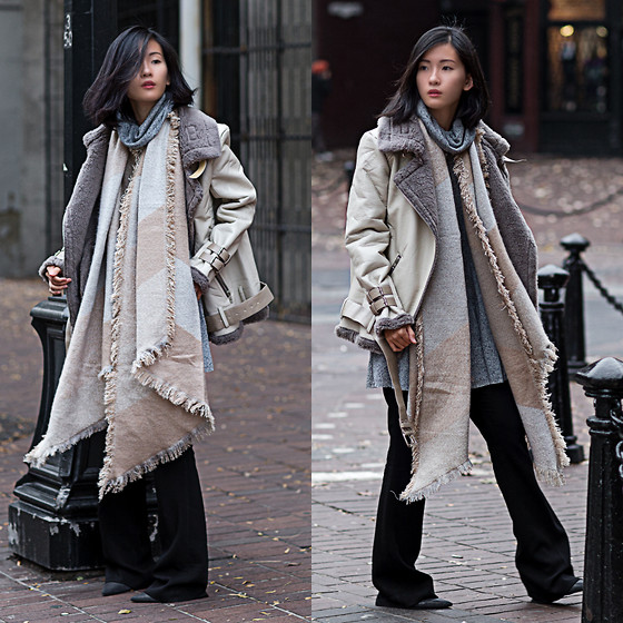 Claire Liu - Urban Outfitters Scarf, Urban Outfitters Jacket, Raoul Pants - Art of Layering