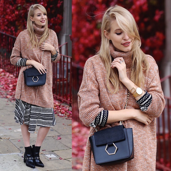 Leonie Hanne - Asos Sweater, Dress, Bag, Boots - Grape leaves & layers | ohhcouture.com