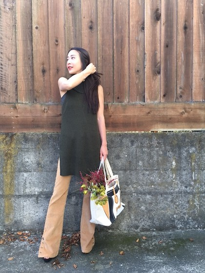 Emma Lee - Anthropologie Sleeveless Turtle Neck Sweater, Anthropologie Fit And Flare Pant - A beautiful sunny day in San Francisco