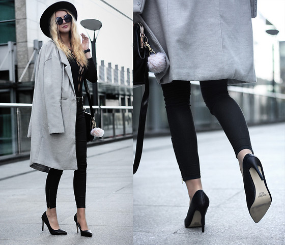 Endzel - Coat, Bodysuit, Bag, Shoes - High Heels