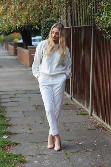 Laura Rogan - In The Style Trousers, Whistles Shoes - White Hot