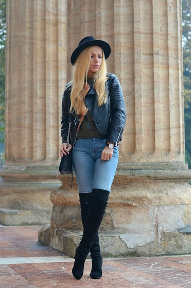 Lavinia F - Jessica Buurman Boots, Sheinside Top - Over the knee
