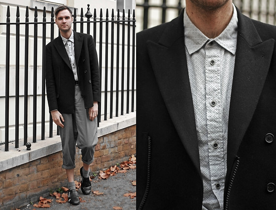 Geraint Donovan-Bowen - Criminal Shirt, Joseph Blazer, Rokit Vintage Trousers, Topman Socks, Topman Shoes - His Name Is Criminal