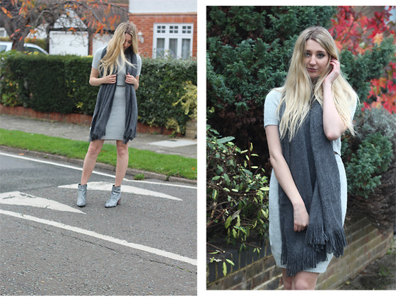 Laura Rogan - H&M Scarf, South Avenue Co Ord, Asos Boots - Shades of Grey